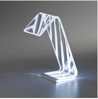 LAMPADA DA TAVOLO VESTA ZEBRA PLEXIGLASS TRASPARENTE CON LED 0806901 mshop