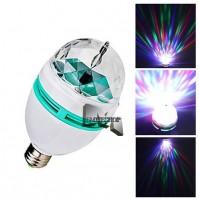 LAMPADA LAMPADINA LUCE LED RGB ROTANTE EFFETTO DISCO DISCOTECA mshop