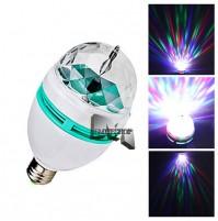 LAMPADA LAMPADINA LUCE LED RGB ROTANTE EFFETTO DISCOTECA DISCO mshop