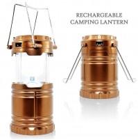 LAMPADA LANTERNA PORTATILE LED SOLARE DA CAMPEGGIO RICARICABILE POWER BANK mshop