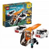 LEGO Creator Drone Esploratore 31071 3 in 1 Veicoli Aereo Motoscafo 109 pz mshop