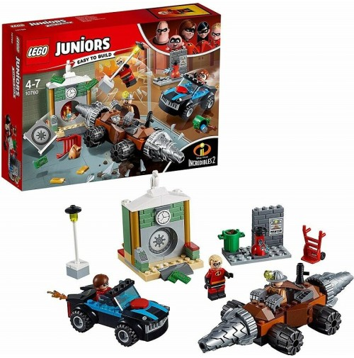 LEGO Juniors Gli Incredibili 2 Rapina in Banca del Minator 10760 203 pz mshop