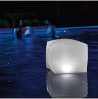 Luce Led galleggiante Intex 28694 Cubo luminoso giardino piscina 4 colori mshop