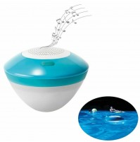 Luce galleggiante con speaker Intex 28625 bluetooth LED 6 colori piscina mshop