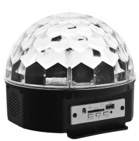 MAGIC BALL PROIETTORE DJ DISCOTECA SFERA MULTICOLOR CON USB SD CARD mshop