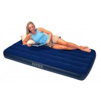 MATERASSO GONFIABILE SINGOLO INTEX 68757 CLASSIC DOWNY AIRBED 99X191X22 CM mshop