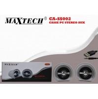 MAXTECH CASSE PC STEREO AUX MULTIMEDIA DIGITAL AUDIO JACK 3.5MM CA-SS002 mshop