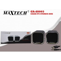 MAXTECH CASSE PC STEREO AUX MULTIMEDIA DIGITAL AUDIO JACK 3.5MM CA-SS003 mshop