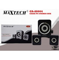 MAXTECH CASSE PC STEREO AUX MULTIMEDIA DIGITAL AUDIO JACK 3.5MM CA-SS004 mshop
