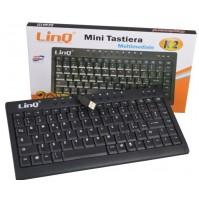 MINI TASTIERA KEYBOARD USB 2.0 SLIM 88 TASTI PS3 PS4 PC NOTEBOOK LINQ K2 mshop