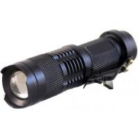 MINI TORCIA MILITARE LED CREE TATTICA 500 LM 800 W CON ZOOM RICARICABILE mshop