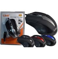 MOUSE CON FILO USB 2.0 OTTICO 1200 DPI PC NOTEBOK 4 TASTI LINQ Li-M2019 mshop