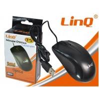 MOUSE OTTICO USB 1200 DPI 3 TASTI ERGONOMICO PC DESKTOP NOTEBOOK LINQ T5 mshop