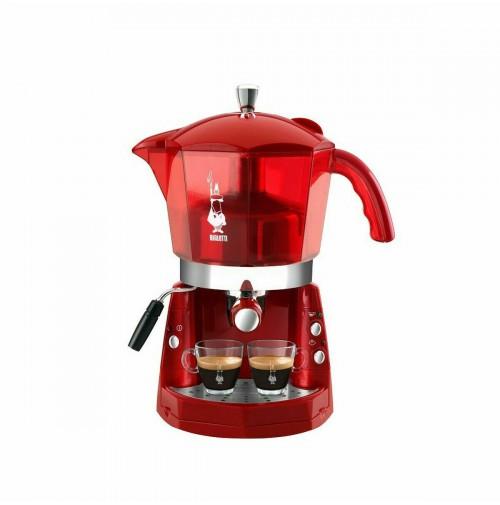 Macchina da caffè 20 bar trivalente Bialetti Mokona Rossa trasparente CF40 mshop