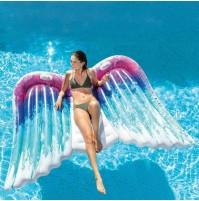 Materassino Angel Intex 58786 ali angelo 251X106cm gonfiabile piscina mare mshop