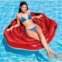 Materassino gonfiabile rosa rossa Intex 58783 isola galleggiante mare new mshop