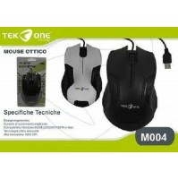 Mouse Ottico con Cavo USB 1200 dpi Computer PC Windows Mac TekOne M004 mshop