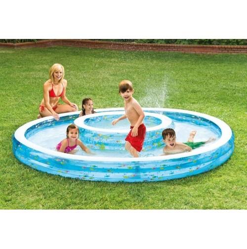 Piscina doppia Intex 57143 pesciolini giochi bambino piscine gonfiabili mshop