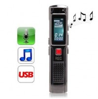 REGISTATORE AUDIO VOCALE 4GB PORTATILE MP3 PLAYER RICARICABILE USB VOR mshop