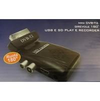 RICEVITORE DECODER DIGITALE TERRESTRE DVB-T2 SCART HD 1080P USB 1108V SD mshop