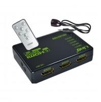 SDOPPIATORE SWITCH 1X5 HDMI FULL HD 1080P 3D PS4 XBOX CONSOLE LINQ VK-501 mshop