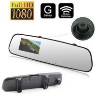 SPECCHIETTO RETROVISORE VIDEOREGISTRATORE TELECAMERA AUTO FULL HD 1080P mshop