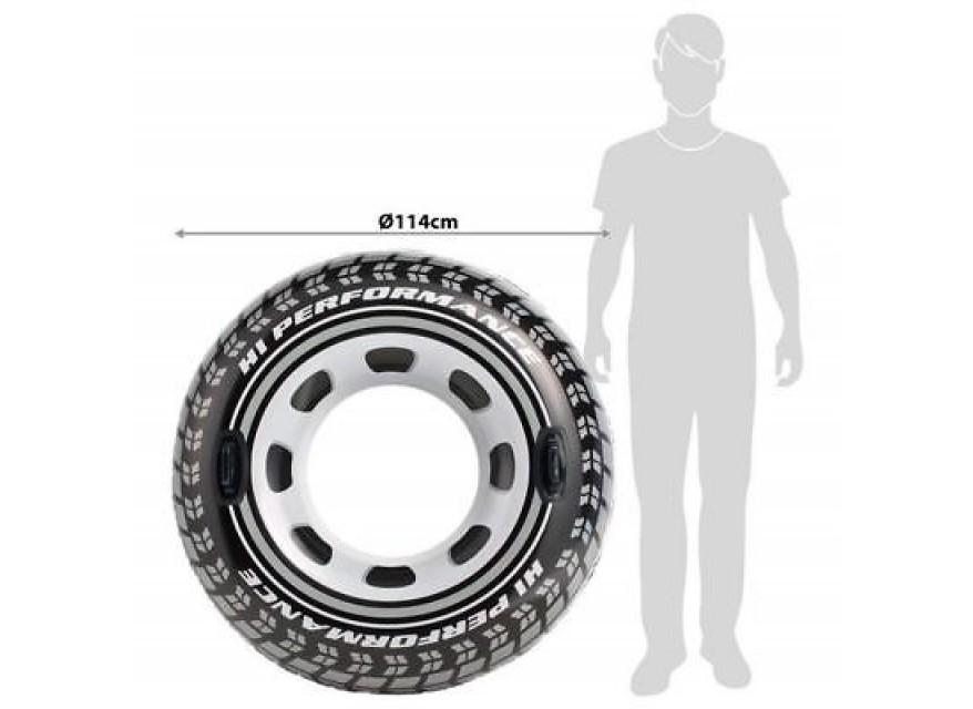 Salvagente ciambella ruota pneumatico con maniglie Intex 56268 cm 114 mshop