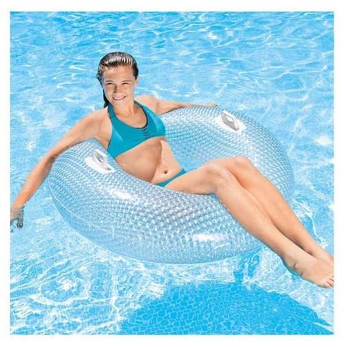 Salvagente ciambella trasparente 56264 Glossy Crystal Intex piscina mare mshop