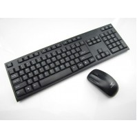 TASTIERA KEYBOARD WIRELESS CON MOUSE 2.4GHz USB PC NOTEBOOK HK-3920 mshop