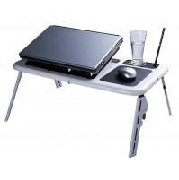TAVOLINO TAVOLO BASE PC NOTEBOOK TABLET SUPPORTO VENTOLA COMPUTER E-TABLE mshop