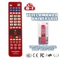 TELECOMANDO UNIVERSALE REMOTE TELEVISORI 8 IN 1 TV LCD SAT DVD VCR AUX mshop