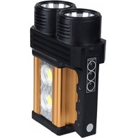 TORCIA 4 LED CREE RICARICABILE LUCI LUCE FREDDA CALDA USB LAVORO CANTIERE mshop