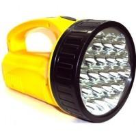 TORCIA A 19 LED LAMPADA RICARICABILE POTENTE LUCE POTENTE FINO A 500 METRI mshop
