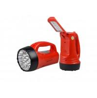 TORCIA A 23 + 16 LED LAMPADA RICARICABILE POTENTISSIMA LUCE 500 METRI  mshop