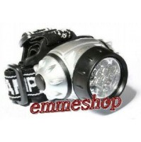 TORCIA FRONTALE FRONTE 21 LED LUCE BIANCA ULTRABRIGHT SPORT PESCA CORSA mshop