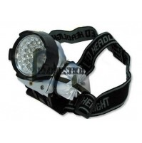 TORCIA FRONTALE LAMPADA FRONTE A 32 LED ULTRABRIGHT PESCA MONTAGNA mshop
