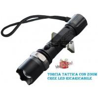 TORCIA TATTICA MILITARE ZOOM CREE LED LUMENS XENON 800 LUMENS RICARICABILE mshop