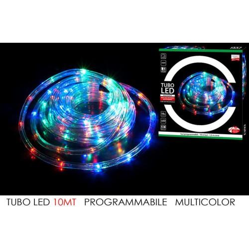 Tubo led multicolor 10 mt natale catena luci programmabili - Catena di luci per esterno ...