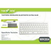 Tastiera Wireless Bluetooth Ultra Slim Android iOS Windows TekOne WK-004 mshop