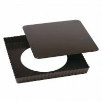 Tortiera crostata quadrata fondo mobile quiches pizza Paderno 47738-23 mshop