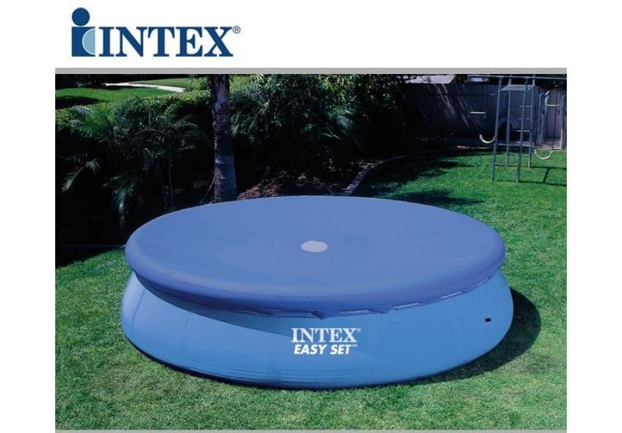 Telo copertura copri piscina rotonda easy 28021 305 cm bestway intex 58938 mshop - Telo copri piscina ...