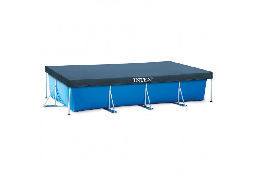Intex 28273 piscina fuoriterra rettangolare con copertura for Piscine tubulaire 3x2