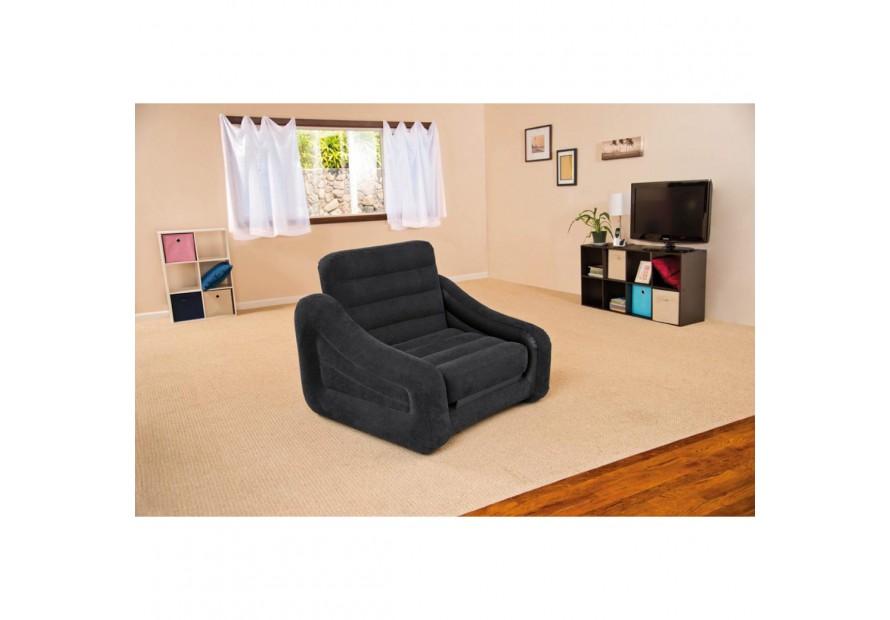 Intex 68565 sofa bed divano letto singolo materasso for Poltrona letto ebay