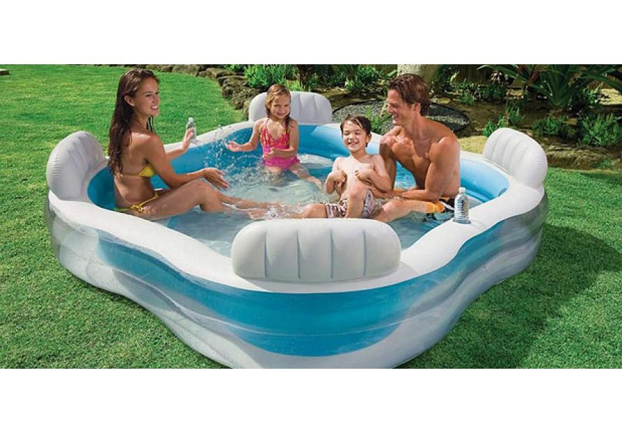 Intex centro nuoto piscina piscine famiglia 4 sedie - Piscina intex gonfiabile ...
