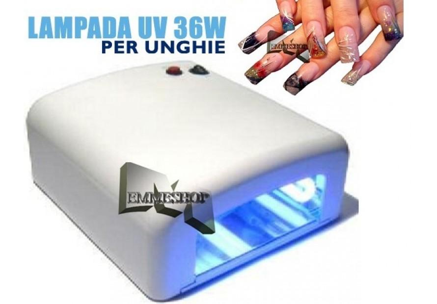 LAMPADA UV FORNETTO PER LA RICOSTRUZIONE UNGHIE MANICURE PEDICURE NAIL 36W