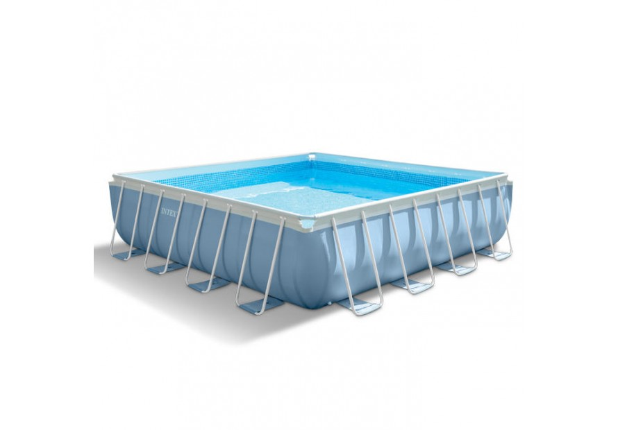 Piscina fuoriterra quadrata intex 28766 cm 488x488x122 con - Scaletta piscina intex ...