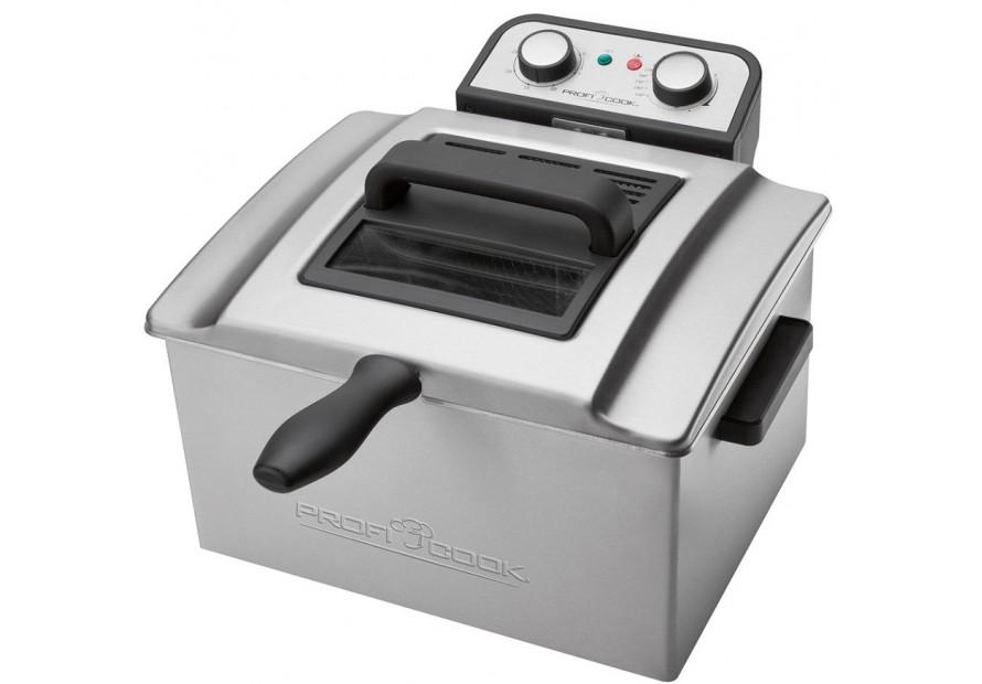 Profi cook friggitrice elettrica inox 3 cestelli vasca da for Friggitrice piccola