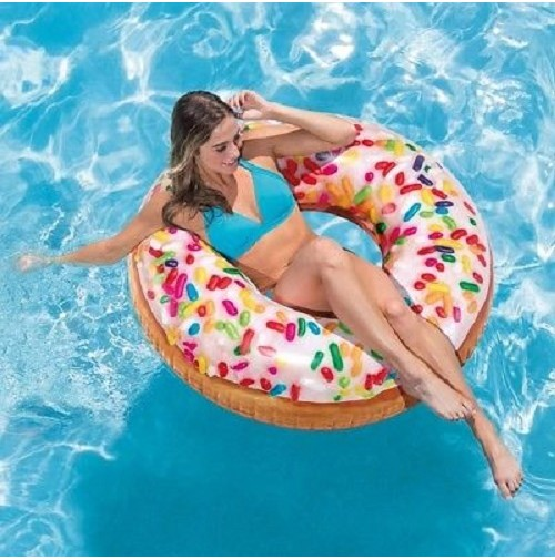 SALVAGENTE CIAMBELLA BIG ZUCCHERINI INTEX 56263 DONUT PISCINA MARE 114 CM