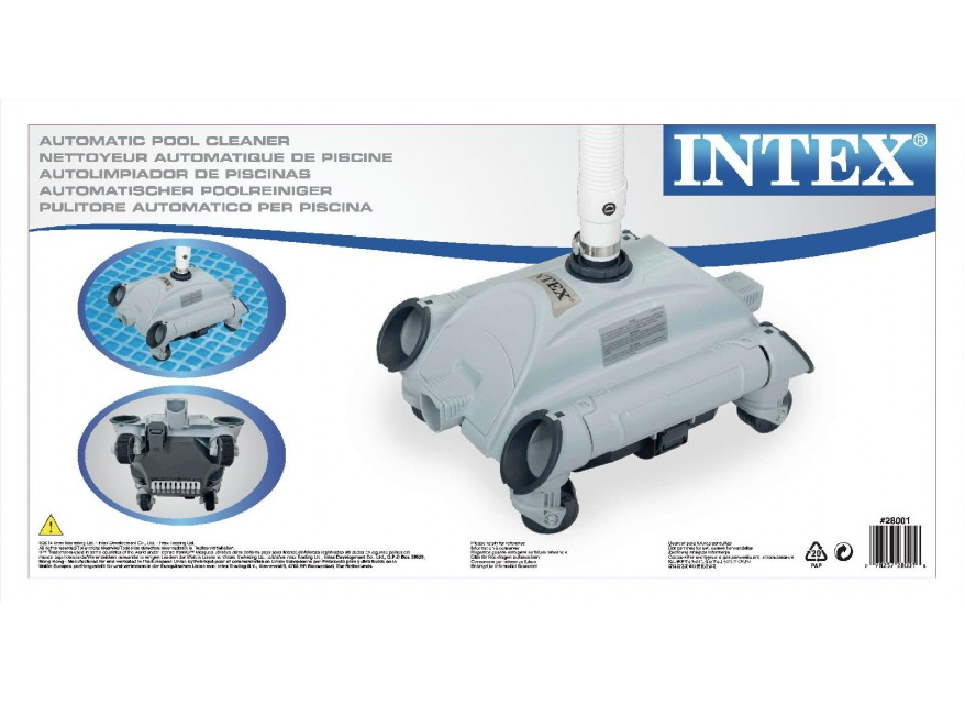 Robot pulitore Intex 28001 per fondo piscina fuoriterra Auto pool Cleaner