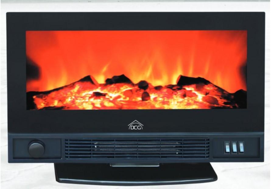 Dcg caminetto elettrico effetto fiamma camino stufa 1800 w for Camino elettrico effetto fiamma